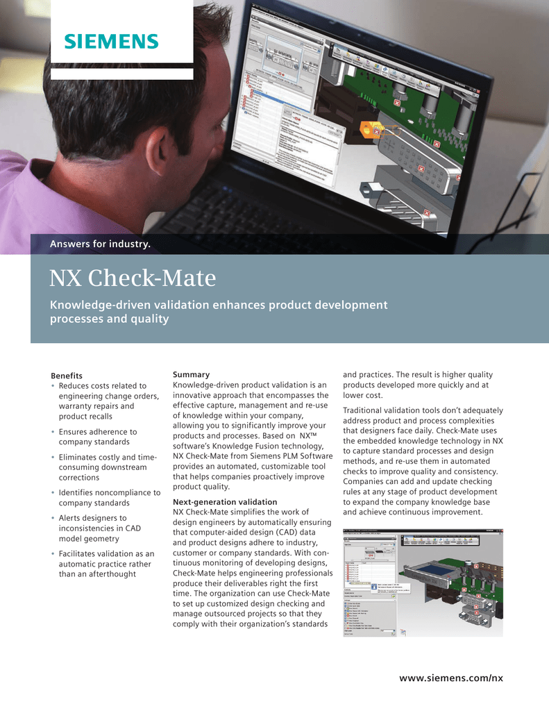 NX Check-Mate - Siemens PLM Software