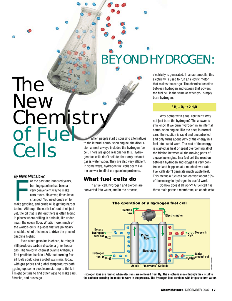 Beyond Hydrogen: The New Chemistry of Fuel Cells