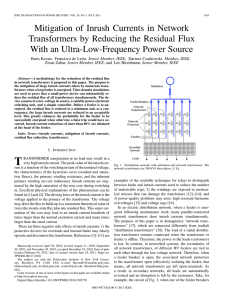 Mitigation of Inrush Currents in Network Transformers by Reducing