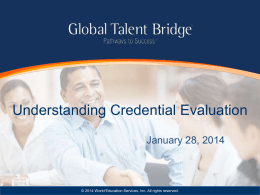 Understanding Credential Evaluation