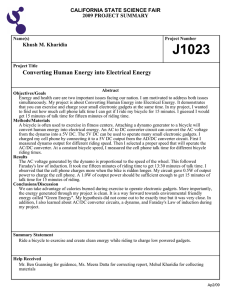 Converting Human Energy into Electrical Energy J1023