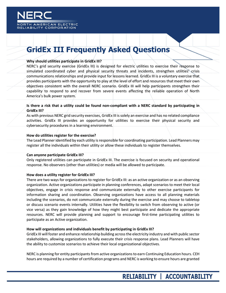 gridex iii frequently asked questions