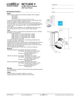 NCTL806 V   ConTech Lighting