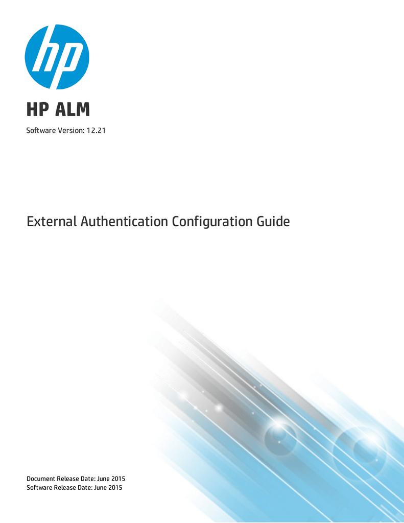 HP ALM External Authentication Configuration