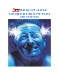 Harsh High Current Electrical Stimulation to erase