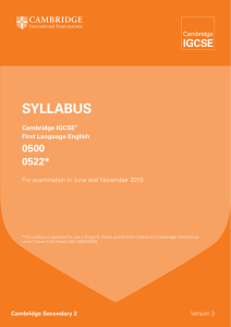 SyllabuS - The Wellington Academy