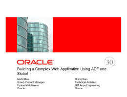 Building a Complex Web Application Using ADF and Siebel