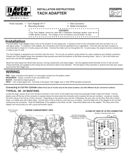 msd 5520 ignition control module installation instructions tach adapter installation instructions