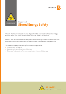 Stored Energy Hazard Hunt