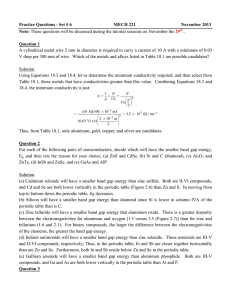 Practice Questions - Set # 6 MECH 221 November 2013 Note