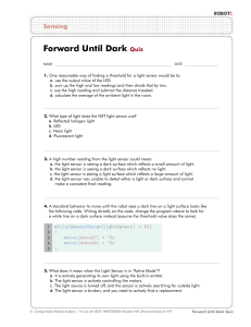 Forward Until Dark Quiz
