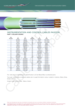 BS5308/PAS5308 Part1 Colour Chart