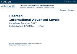 International Advanced Levels - Edexcel