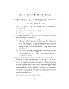 Math 466 - Practice Problems for Exam 2