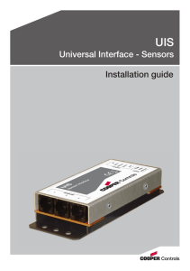 Universal Interface - Sensors Installation guide