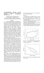 Electrochemical Double Layer Capacitance Properties of Carbon in