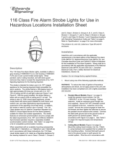 116 Class Fire Alarm Strobe Lights for Use in Hazardous