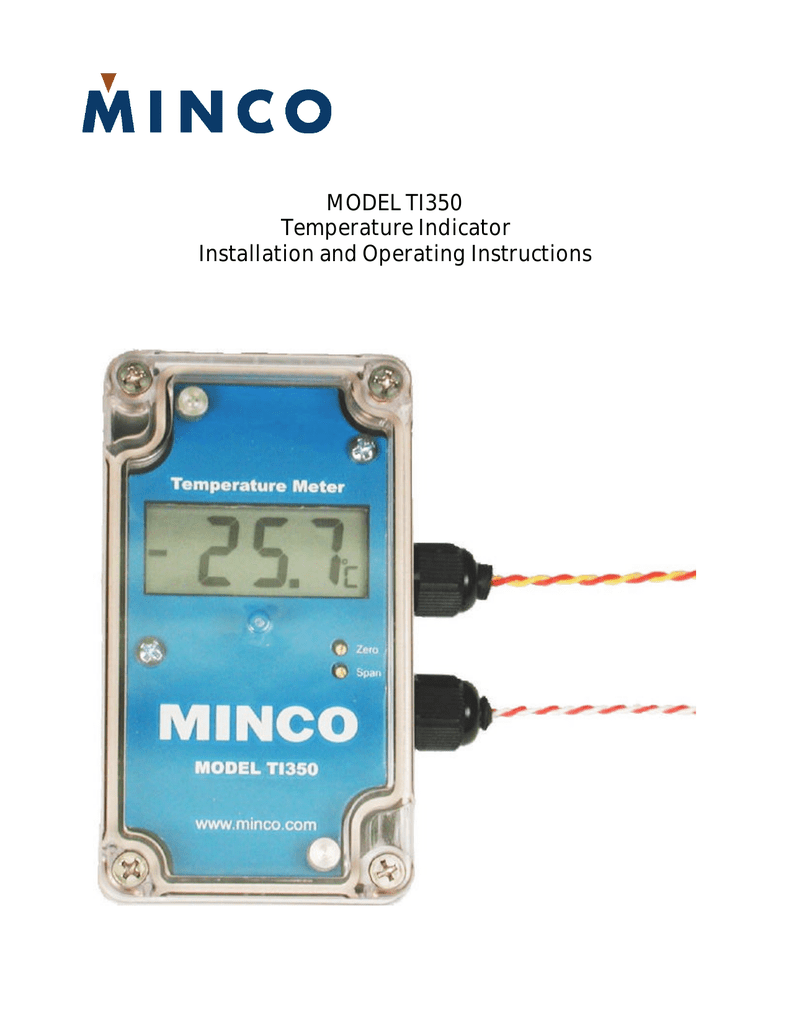 Model Ti350 Temperature Indicator Installation And Operating