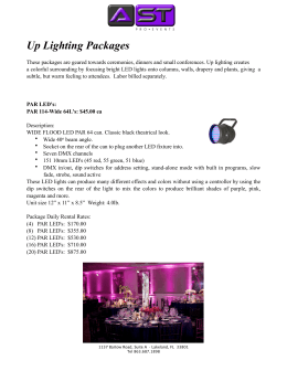 Uplighting Pricing