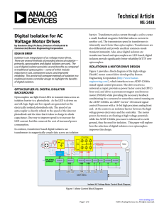 Digital Isolation for AC Voltage Motor Drives