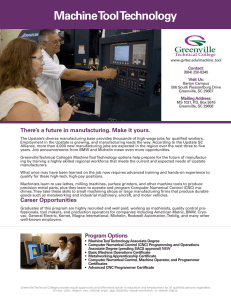 Machine Tool Technology - Greenville Technical College