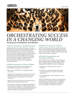 orchestrating success in a changing world