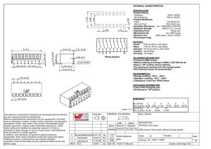 Wiring Diagram TECHNICAL CHARACTERISTICS SPECIFICATION