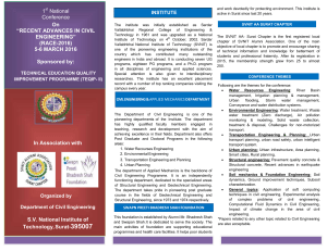 "1 National Conference On ""RECENT ADVANCES IN CIVIL"
