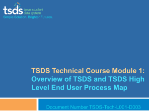 TSDS Technical Course Module 1