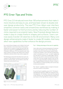 PTC Creo® Tips and Tricks