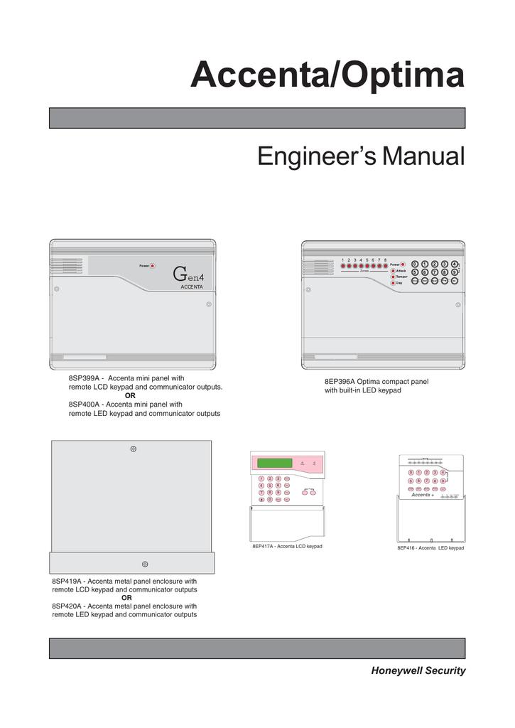 accenta optima engineer s manual rh studylib net accenta 8 user manual accenta 8 alarm instructions