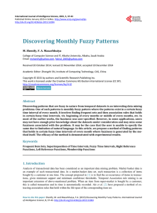 Discovering Monthly Fuzzy Patterns