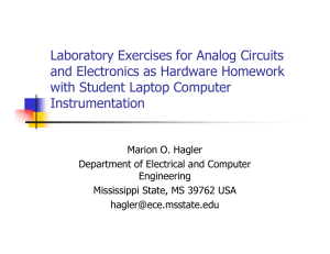 Laboratory Exercises for Analog Circuits and Electronics as