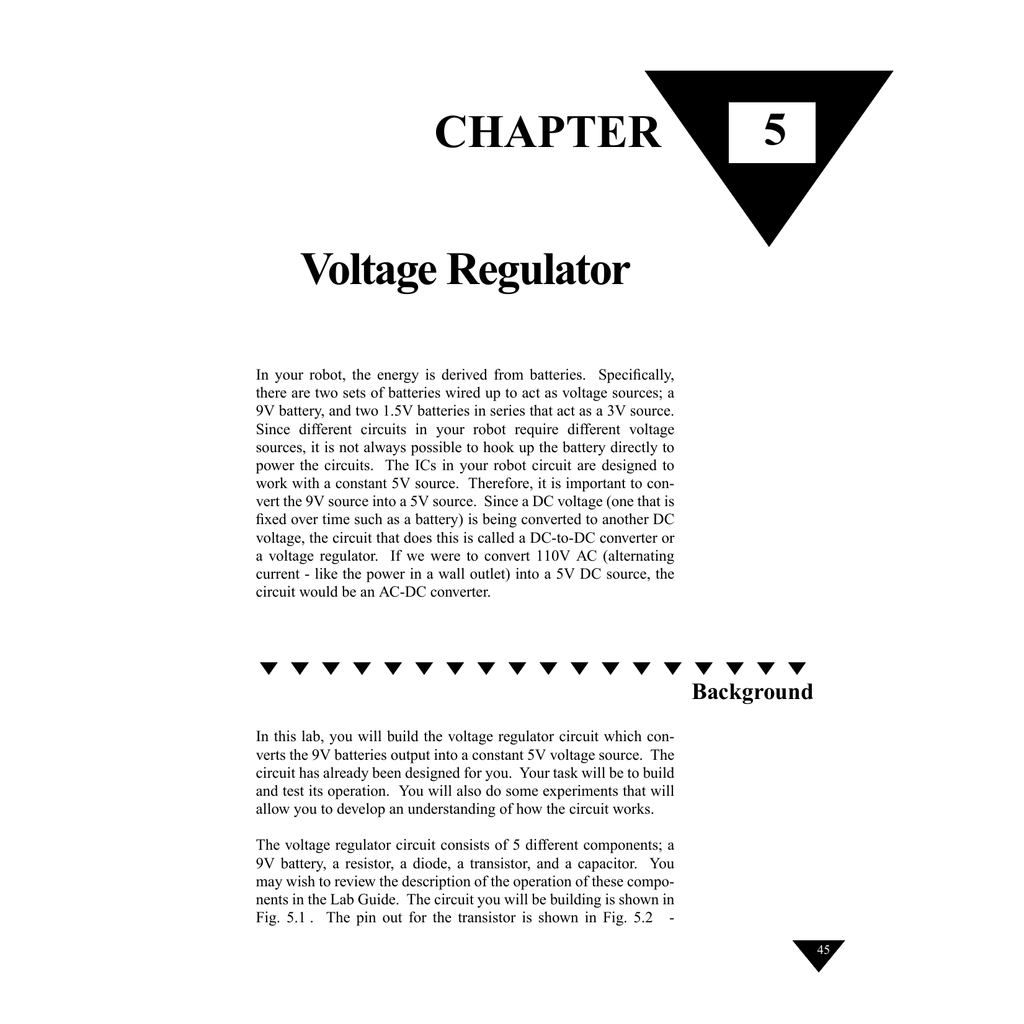 Chapter 5 Voltage Regulator Circuit For