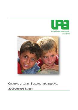 2009 Annual Report - United Palestinian Appeal