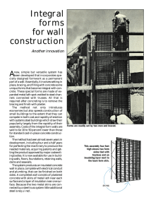 Integral forms for wall construction