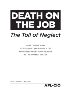 Death on the Job: The Toll of Neglect - AFL-CIO