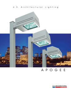 Apogee Series Brochure - U.S. Architectural Lighting