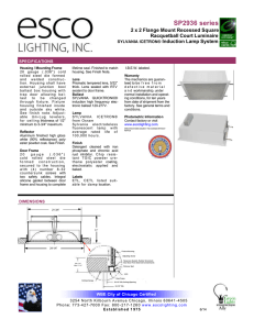 SP2936 series - Esco Lighting Inc