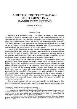 Asbestos Property Damage Settlement in a Bankruptcy Setting