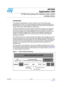 ST7MC three-phase AC induction motor control software library
