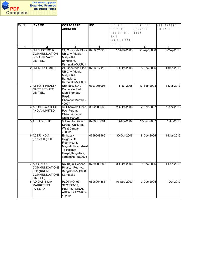 ACP List - IceGate