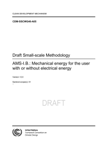 "Annex 5 - Draft revision of ""AMS-I.B.: Mechanical energy for the user"