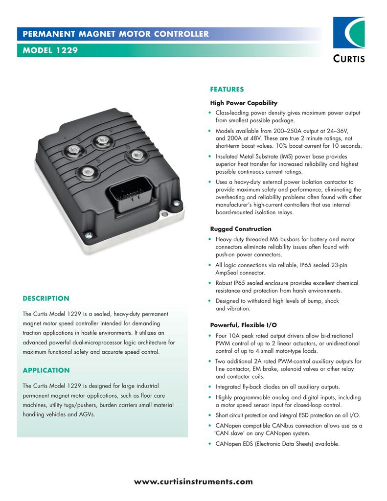 Curtisinstrumentscom Permanent Magnet Motor Curtis Dc Controller Wiring Diagram Repalcement Parts