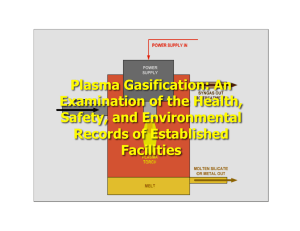 Plasma Gasification: An Examination of the Health, Safety