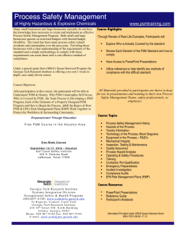 PSM One Day Flyer v3.3 Houston - process safety management