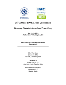 26 Annual IBA/IFA Joint Conference