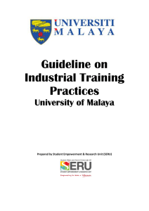 Guideline on Industrial Training Practices