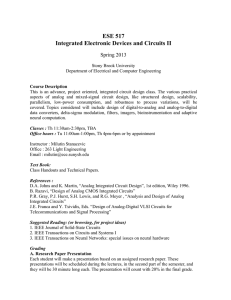 ESE 517 Integrated Electronic Devices and Circuits II