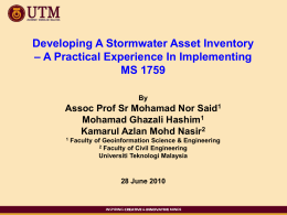 Developing A Stormwater Asset Inventory